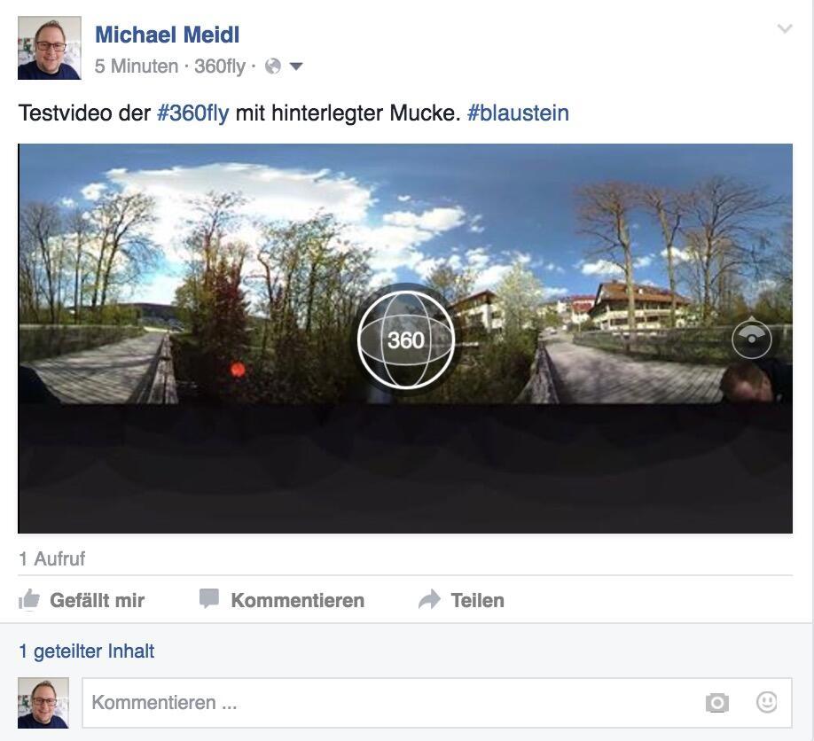 360fly Video direkt auf Facebook