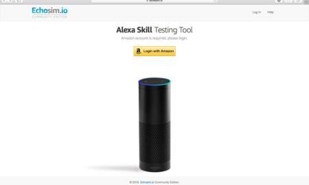 Alexa Skills Testing Tool Header
