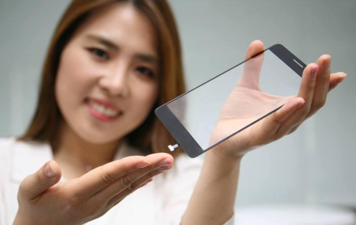 LG Display Sensor Fingerabdruck