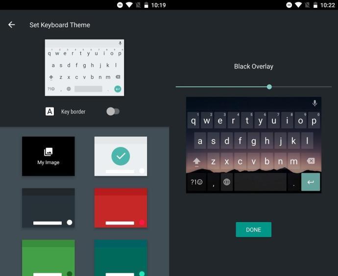 android tastatur themes