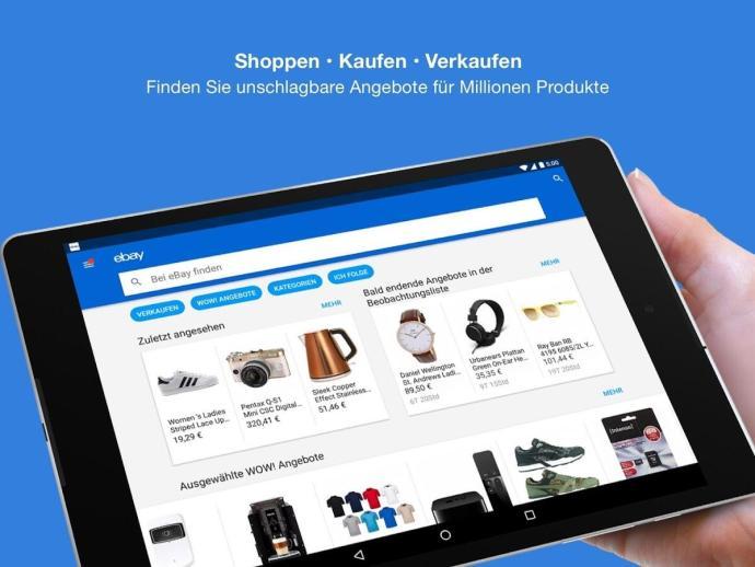 ebay app tablet