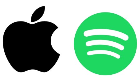 Apple Spotify Logo Header