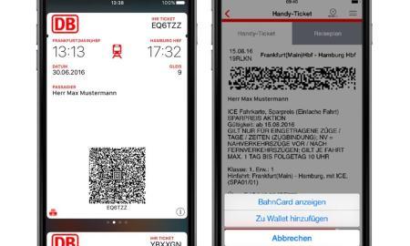 DB Navigator Apple Wallet