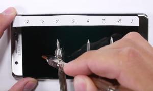 Samsung Galaxy Note 7 Kratzer Test