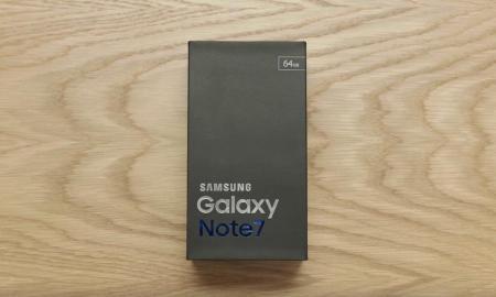 Samsung Galaxy note 7 Verpackung