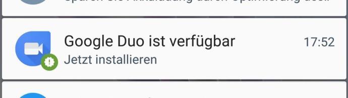 google duo notification