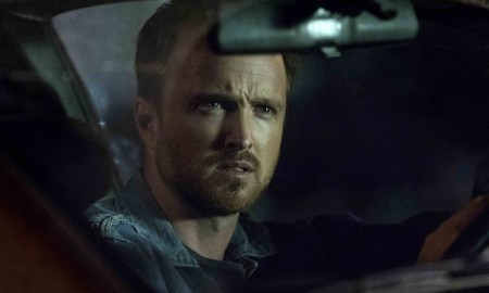 """THE PATH -- """"What The Fire Throws"""" Episode 101 -- Pictured: Aaron Paul as Eddie Lane -- (Photo by: Greg Lewis/Universal Television"""