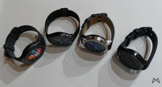 von links: Gear S2 Sport, Gear S2 Classic, Gear S3 Classic, Gear S3 Frontier