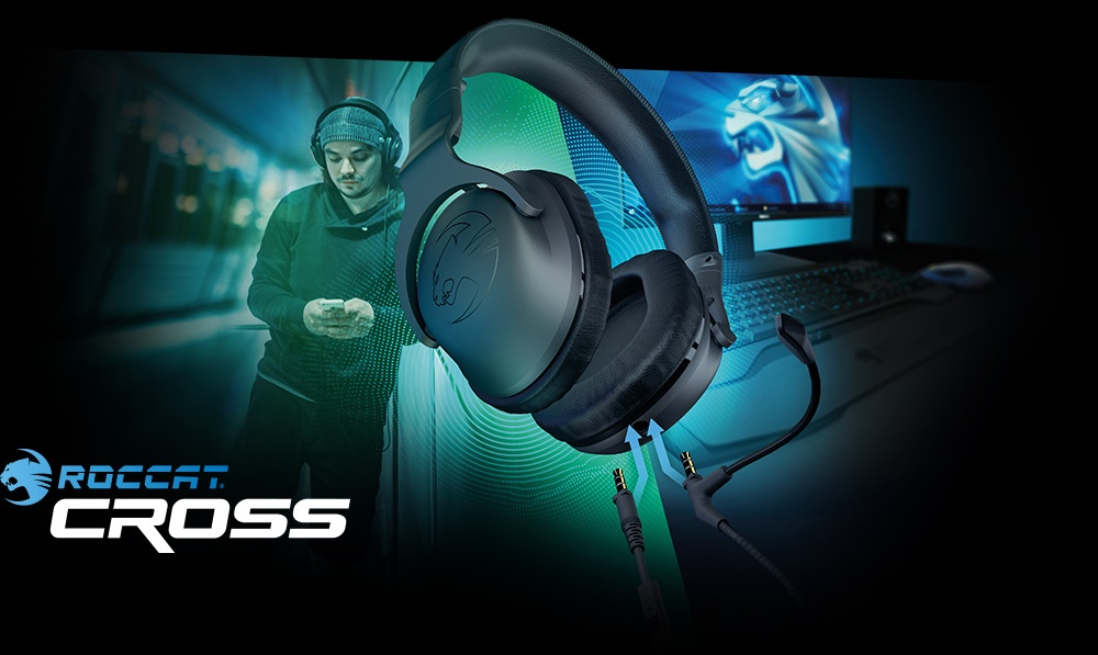 roccat cross gaming headset mit doppel mikrofon vorgestellt. Black Bedroom Furniture Sets. Home Design Ideas
