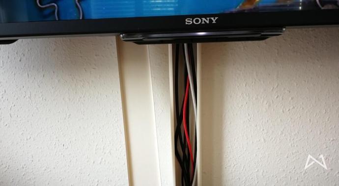 Schrank Um Tv Zu Verstecken = meine version von ordentlichem kabelsalat hinter dem tv