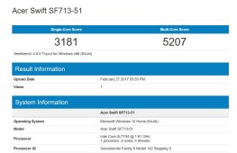 Geekbench Acer Swift 7