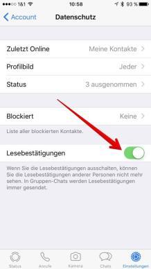 Whatsapp Status Lesebestätigung Wirkt Sich Aus