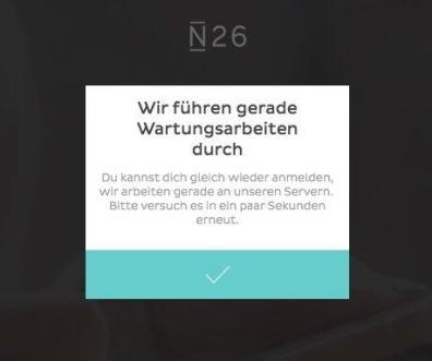 n26 login web fail