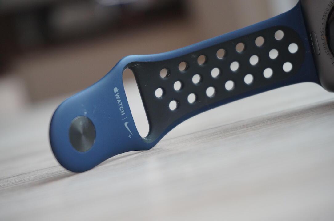 Apple Watch Nike Band Blau1