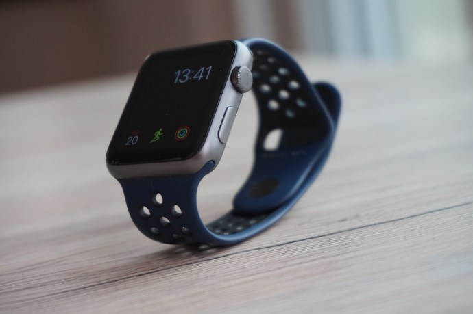 Apple Watch Nike Band Blau3