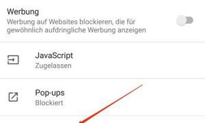 Google Chrome Werbung