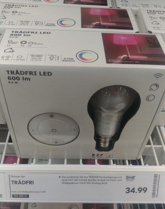 Ikea Trådfri Farbige Lampen Sind Da