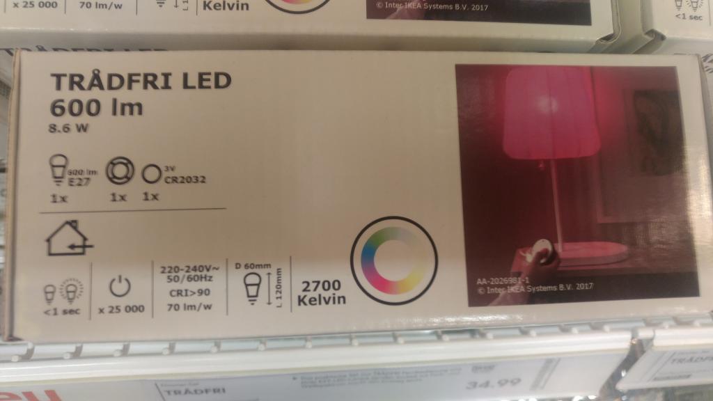 Ikea Tradfri Led Farbe Detail