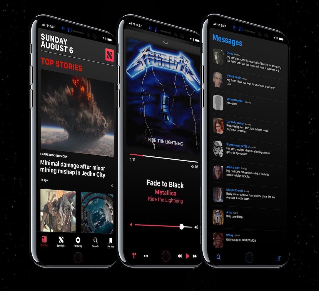Iphone Pro Ios 12 Konzept Dark