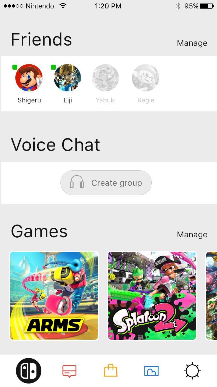 Nintendo Switch App Konzept