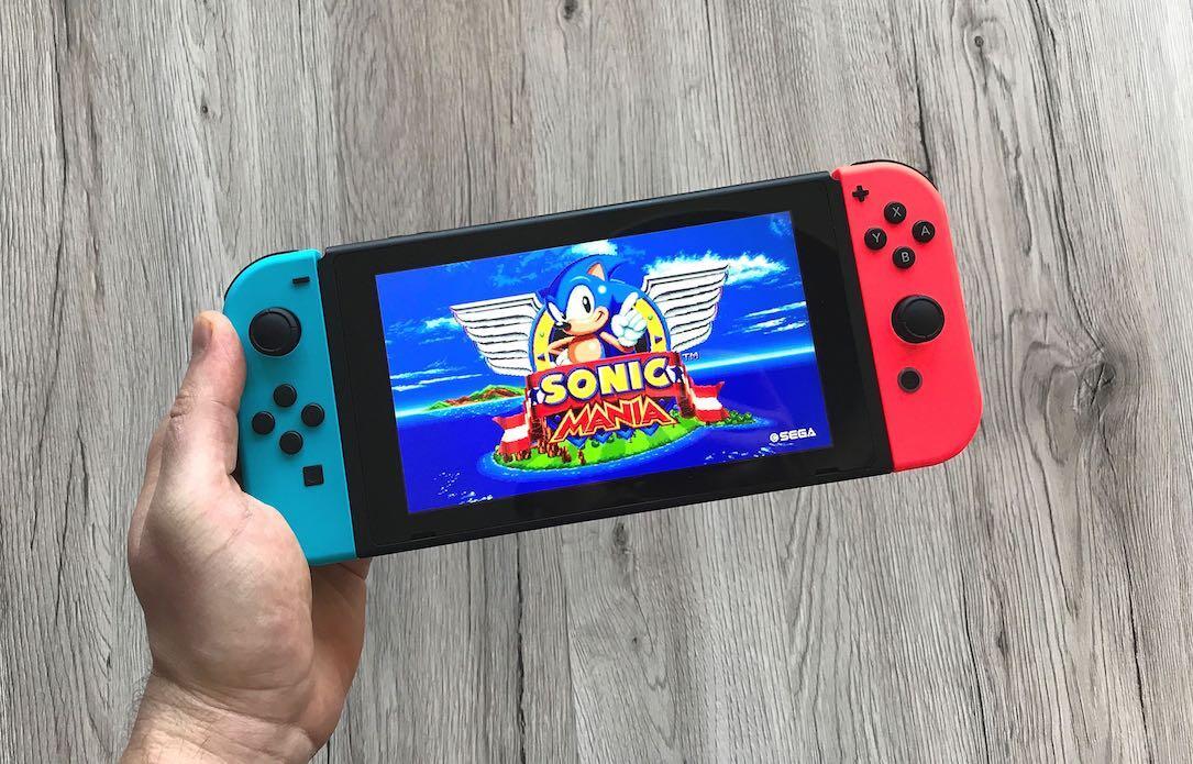 Sonic Mania Switch Header