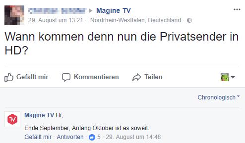 Magine Facebook Comment