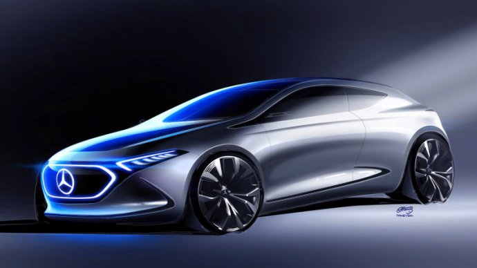 Mercedes Benz Concept Eqa Designskizze // Mercedes Benz Concep