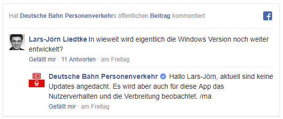 Bahn Kommentar Windows