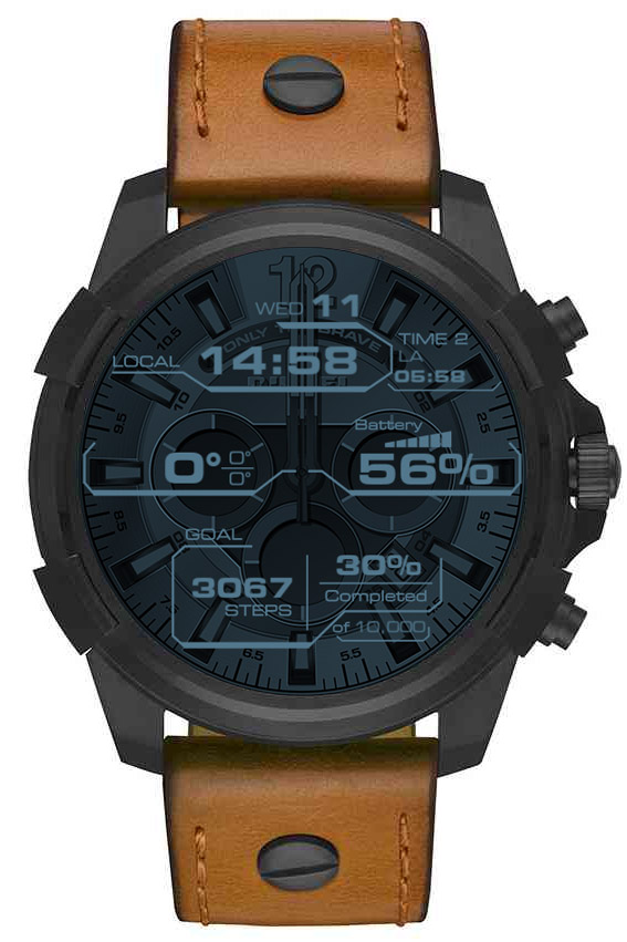 Dieselon Full Guard Watchface Heads Up