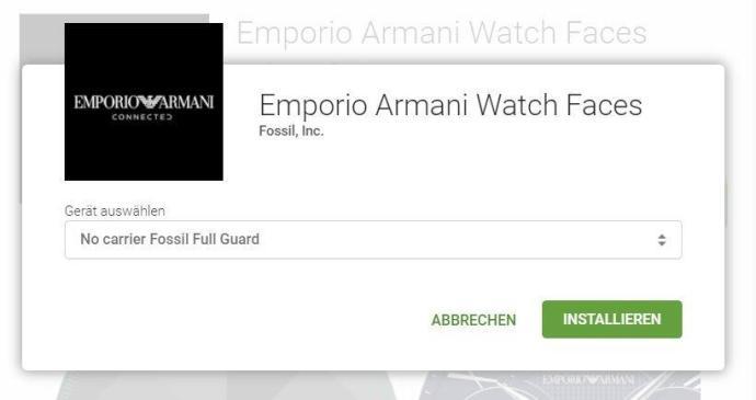 Emporio Armani Watch Faces