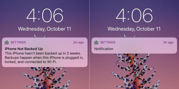 Iphone X Benachrichtigungen Lockscreen