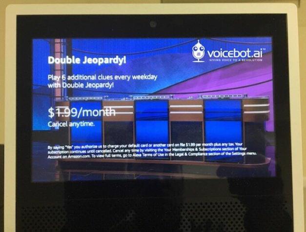Jeopardy Amazon Alexa Skill Monetization Subscription Voicebot 2