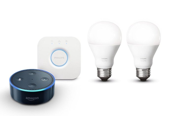 Amazon Echo Dot Philips Hue