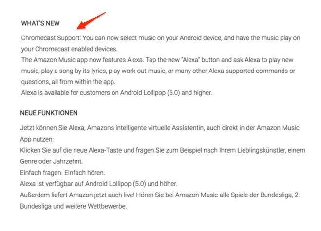 Amazon Music Chromecast