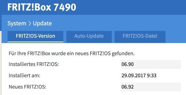 Fritzbox Fritzos Update