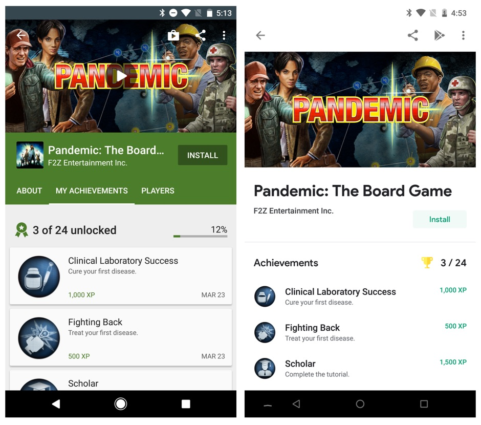Google Play Games Design