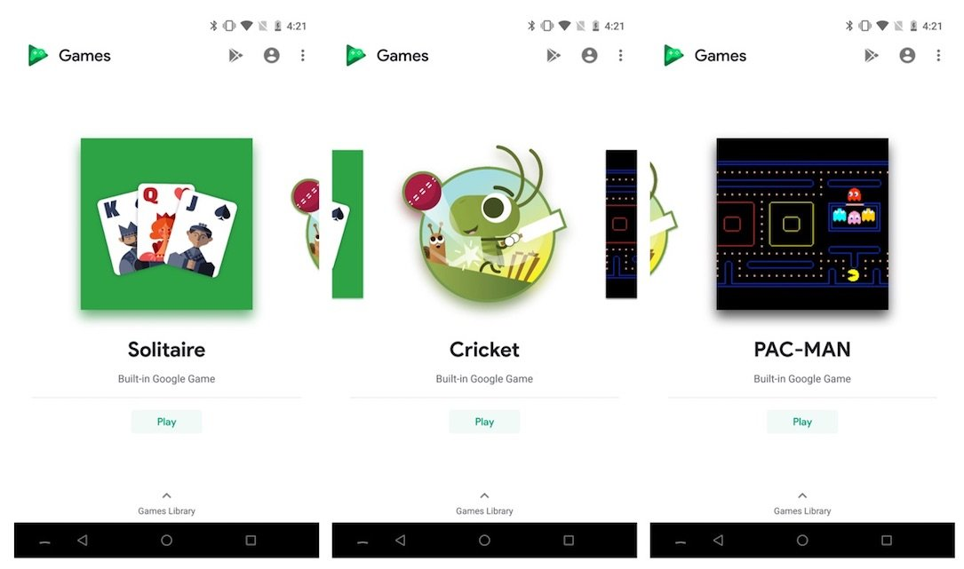 Google Play Games Spiele