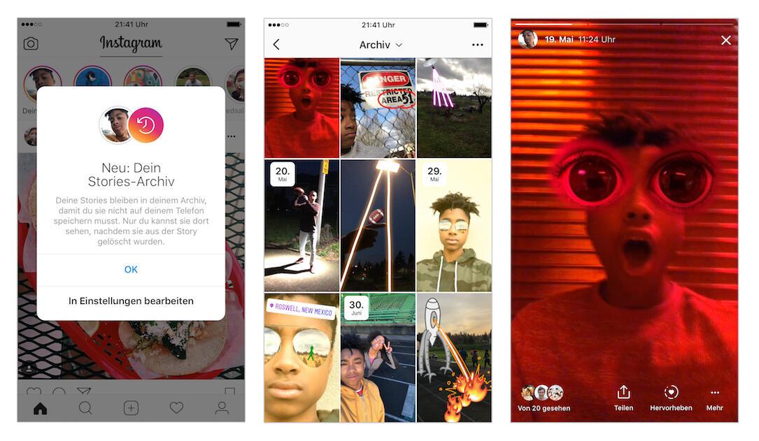 Instagram Stories Archiv