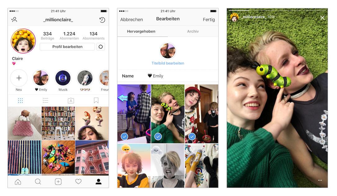 Instagram Stories Highlight