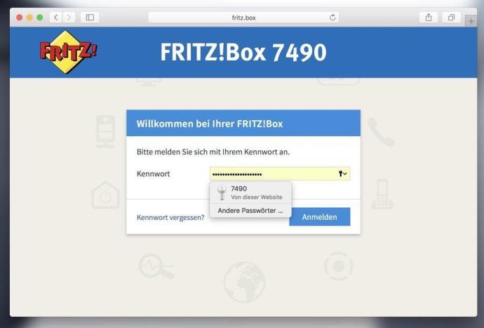 Safari Fritzbox Passwort