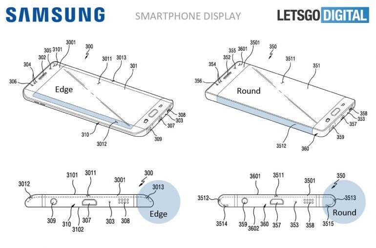 Samsung Patent Display Rund Vergleich