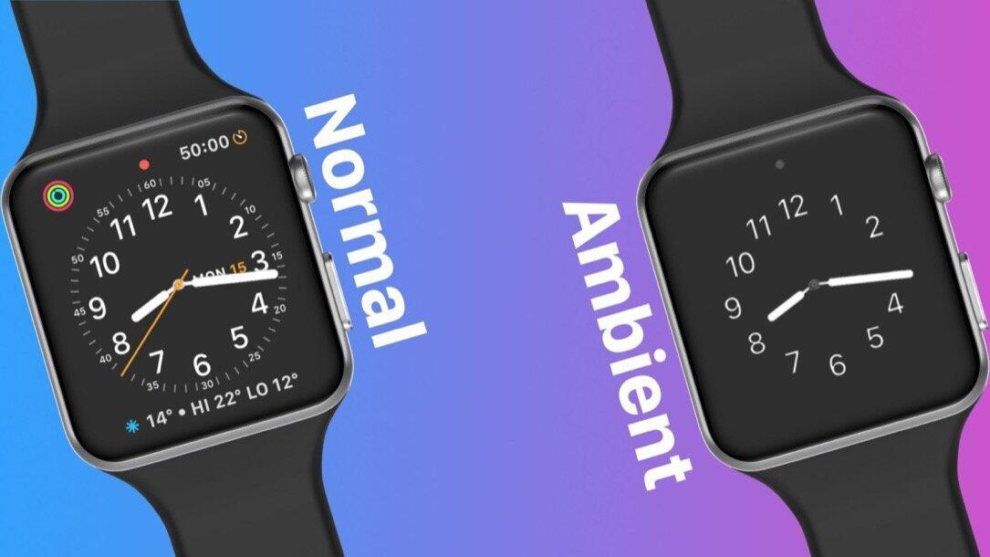 Apple Watchos 5 Konzept Ambient Display