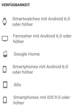 Google Assistant Befehl Kompatibel