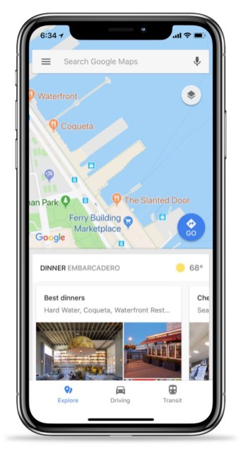 Google Maps Ios Bottom Bar 1