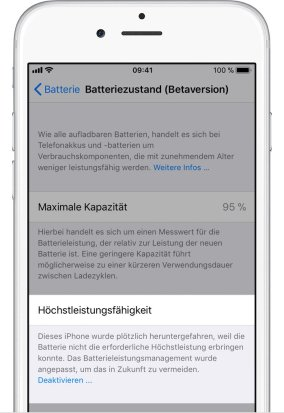 Ios11 Iphone6 Settings Battery Health Performance Management Applied