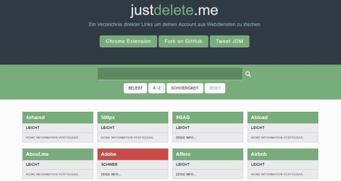 Just Delete Me