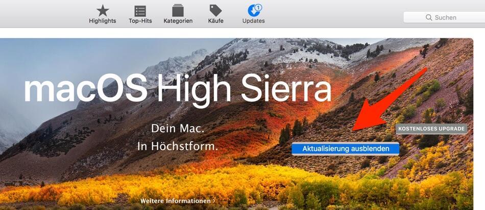 Macos High Sierra Hinweis