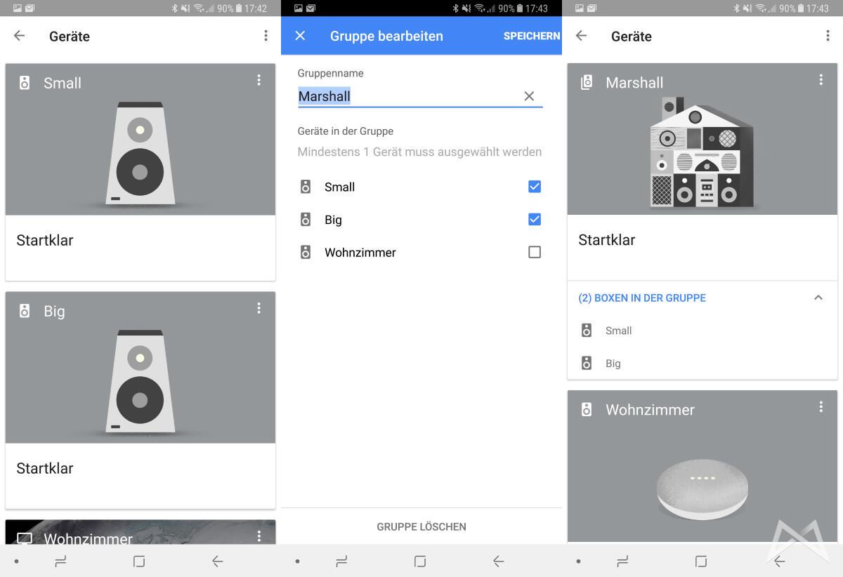 Marshal Multiroom Speaker Google Home Konfiguration