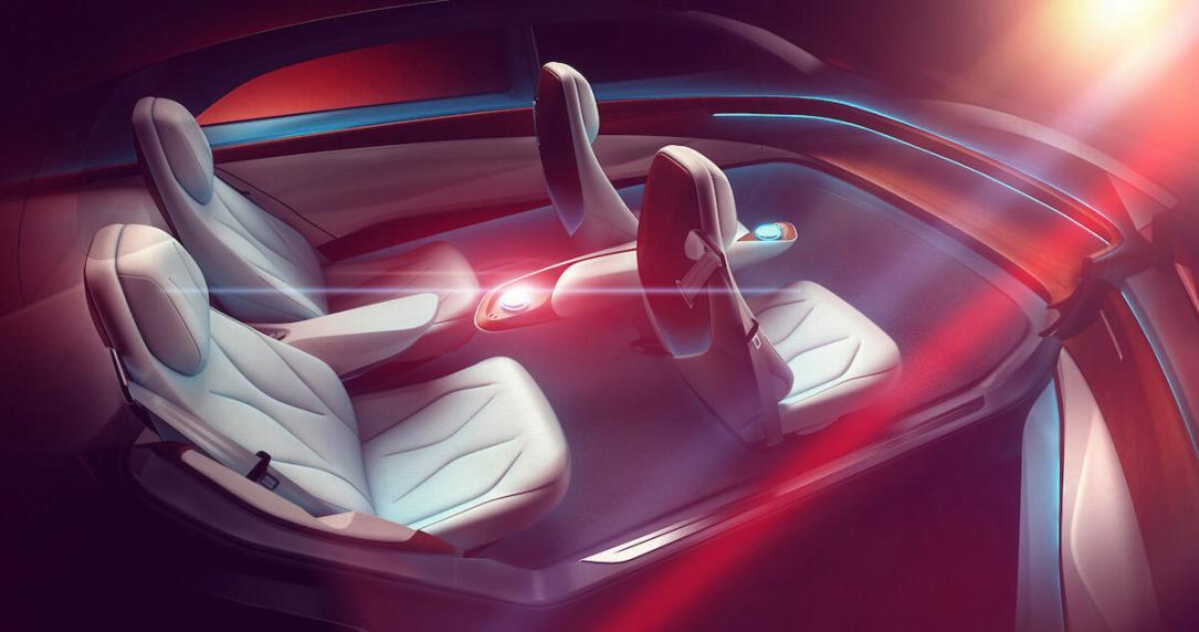 Vw Volkswagen Id Vizzion Innenraum