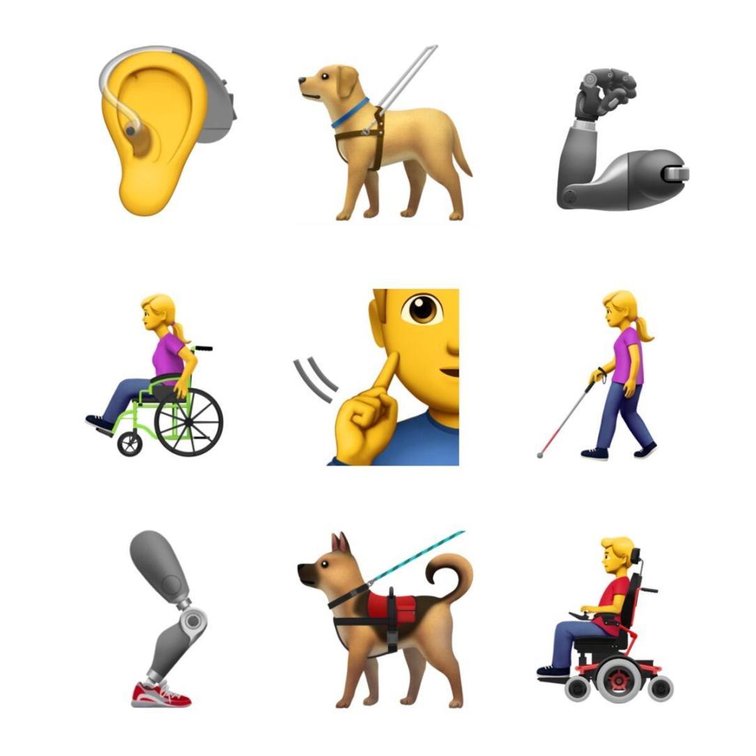 Apple Emoji Behinderung